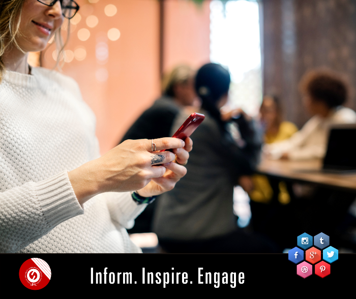 Inform. Inspire. Engage. #informinspireengage social media promotions reach out to your target audience in local / regional / national market, social media optimization